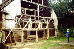 Die alte Scheune kurz vor dem Abriss